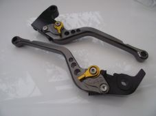 Triumph DAYTONA 675 R (11-15), CNC levers long titanium/gold adjusters, F11/T333